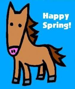 Happy Spring Horse